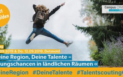 """Tagung am 11./12.09.2019: """"Deine Region, deine Talente – Bildungschancen in ländlichen Räumen"""""""