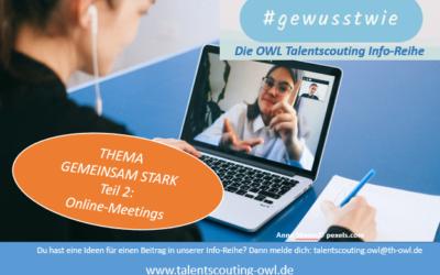 #gewusstwie: ONLINE-MEETINGS