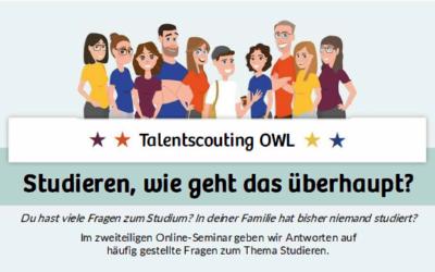 STUDIEREN, WIE GEHT DAS ÜBERHAUPT? Online-Seminar am 16.10.2020