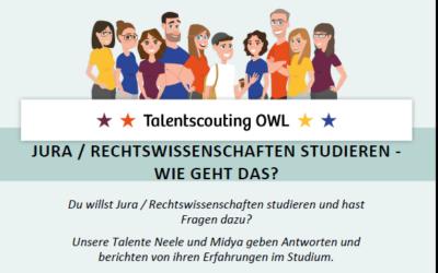 JURA / RECHTSWISSENSCHAFTEN STUDIEREN – WIE GEHT DAS? Online-Austausch am 25.11.2020